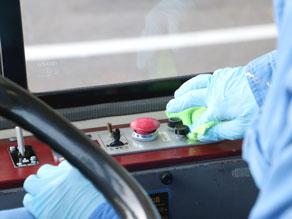 運転席のボタン類の抗菌